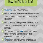 Marking a Text- common core handout/poster