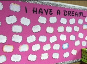 Martin Luther King Jr. I Have A Dream Bulletin Board Writi