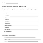 Martin Luther King, Jr. Spanish Beginner's Bundle of Activities