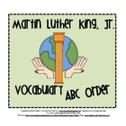 Martin Luther King, Jr. Vocabulary ABC Order Activity