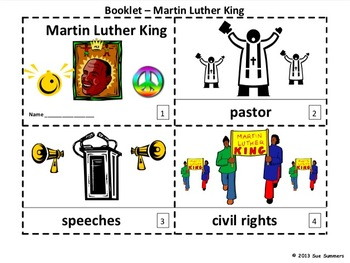 Martin Luther King Mini Books in English