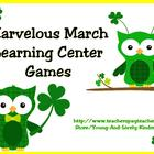 Marvelous March Learning Center Games for Kindergarten