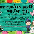 Marvelous Math Tubs ~ Winter Fun ~ 10 hands-on, engaging c