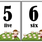 Mary Had a Little Lamb Number Wall Cards (1-20)