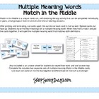 Match in the Middle - Literacy Activity for Multiple Meani