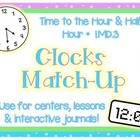 Matching Clocks: Hour & Half Hour 1.MD.3