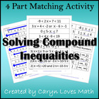 Matching:1-Variable Compound Inequality-Interval Notation