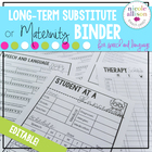 Maternity/Long-Term Substitute Packet for Speech and Language