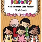 Math 1st Grade CC- No Prep Review, Practice, & Games: February
