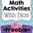 Math Activities With Dice - Freebie!