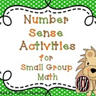 Number Sense Activities for Small Group Math