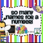 Math Activity:  So Many Names for a Number