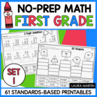 Math All Year! First Grade Common Core Printables!