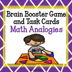 Freebie Math Analogies Brain Booster Game Cards!