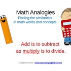 Math Analogies to Support Thinking Skills