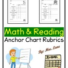 Math Anchor Chart Rubric for Teachers OR Students!