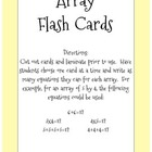 Math Array Flash Cards for Addition/Multiplication Equations