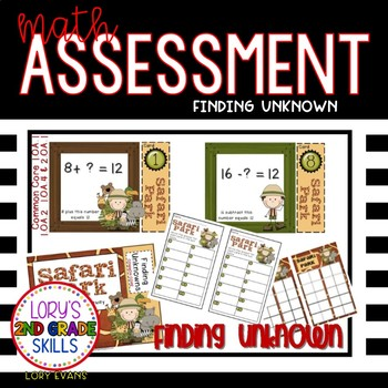 Math Assessment - Finding Unknowns - Safari Park