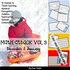 Math Attack! Vol 3, Dec and Jan - Aligned with the Common Core