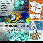 Math Attack! Vol 6, June and July - Aligned with the Common Core