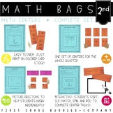 Math Bags for 2nd Grade THE COMPLETE SET (30+ Common Core