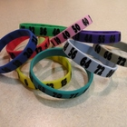Math Bands for Multiplication with black numbers