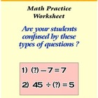 Math Basic Operations Practice