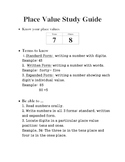 Math Beginner Place Value Tens & Ones  Assessment and Guide