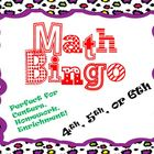 Math Bingo 4th, 5th or 6th grade! Great for Review, Center