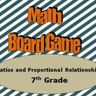 Math Board Game 7th Grade  - Ratios and Proportional Relat