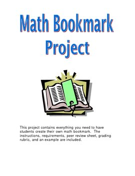 Math Bookmark Project