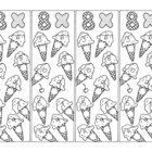 Math Bookmarks Multiplication Coloring Pages Eight Tables