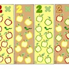 Math Bookmarks Multiplication Two Apples pdf Basic Facts Practice