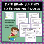 Math Brain Builders Riddles - 30 Mini Test Prep Activities