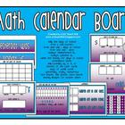 Math Calendar Board (Purple/Blue)