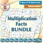 Multi-Match Game Cards BUNDLE: Multiplication Facts for 2s