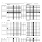 Math: Cartesian Graph Paper with xy-tables