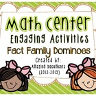 Math Center - Fact Family Dominos