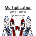 "Math Center Game Multiplication ""Double Your Doubles"" 4 Ti"