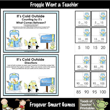 Math Center --  It's Cold Outside Counting by 5's (between)