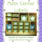 Math Center Labels with Pictures