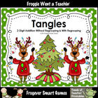 Math Center--Tangles (2-Digit Addition Without Regrouping/