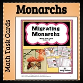 Math Center: Task Cards Migrating Monarchs