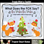 Math Center--What Does the Fox Say? (2-Digit Addition With
