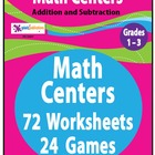 Math Centers Bundle--Addition and Subtraction--NO PREP!