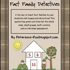 Math Centers: Fact Family Detectives