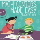 Math Centers Made Easy. First Grade Edition. English 10 Ce