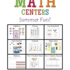 Math Centers Summer Fun Pack