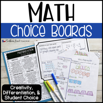 Math Choice Boards: math projects for all units - 4th, 5th, 6th grade