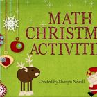 Math Christmas Activities - Number, Word Problems, Fractio